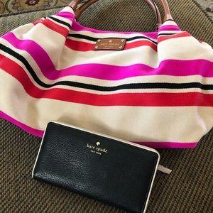 Kate Spade Pink, blue and red handbag tote